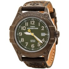 Timex Expedition Trail Field Watch - Leather Strap in Green/Brown - Closeouts