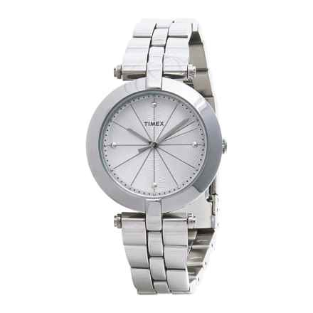Timex Greenwich Silver-Tone Watch - Stainless Steel Bracelet (For Women) in Silver/Stainless Steel - Closeouts