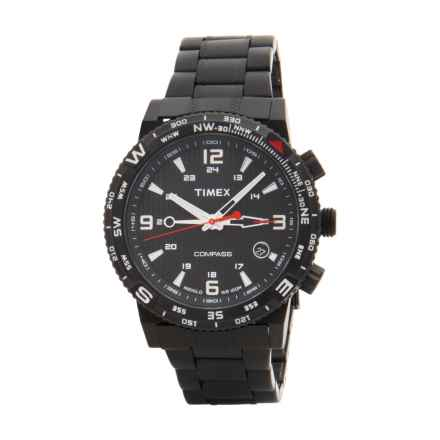 Timex Intelligent Quartz Adventure Series Chronograph Watch - Stainless Steel Bracelet (For Men) in Black/Black - Closeouts