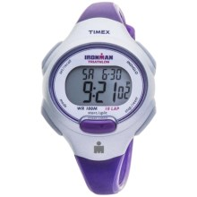 Timex Ironman 10-Lap Digital Watch (For Women) in Grey/Purple - Closeouts