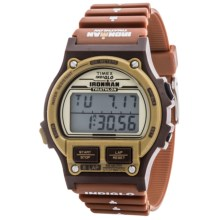 Timex Ironman 1986 Edition Alarm Chrono 8-Lap Timer Digital Watch - Resin Band (For Men) in Golden/Brown - Closeouts