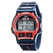 Timex Ironman 1986 Edition Alarm Chrono 8-Lap Timer Digital Watch - Resin Band (For Men) in Red/Blue - Closeouts