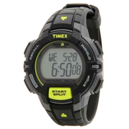Timex IRONMAN® 30-Lap Mid-Size Traditional Core Watch - 38mm (For Men) in Black/Silver/Black - Closeouts