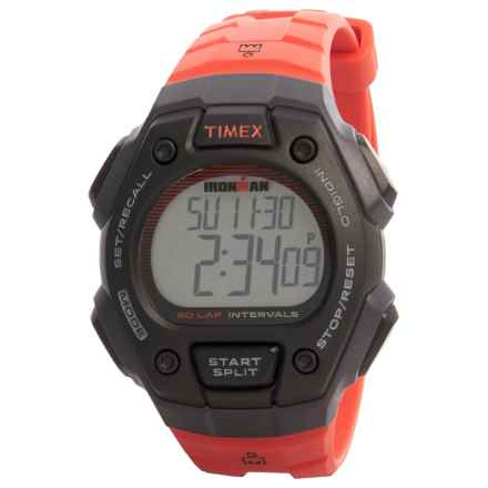 Timex IRONMAN® 50-Lap Full-Size Watch - 43mm (For Men) in Red/Black - Closeouts