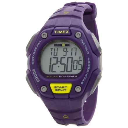 Timex IRONMAN® 50-Lap Mid-Size Traditional Core Watch - 36mm (For Women) in Purple/Silver/Purple - Closeouts