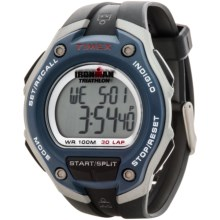 Timex Ironman Classic 30 Oversized Sports Watch in White/Blue/Black - Closeouts