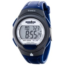 Timex Ironman® Essential 10 Full-Size Sports Watch in White/Grey/Blue - Closeouts
