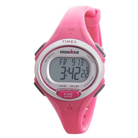 Timex IRONMAN® Essential 30 Mid-Size Digital Watch (For Women) in Pink