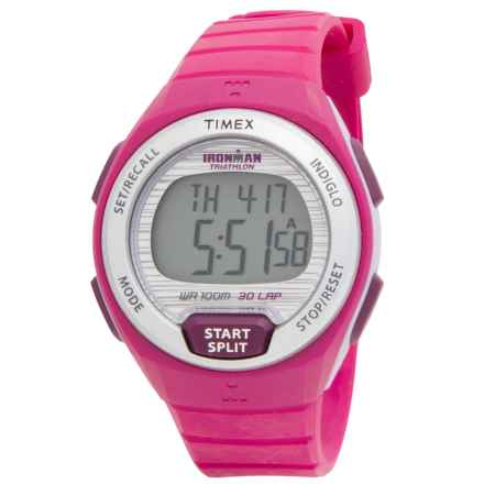 Timex IRONMAN® Oceanside 30-Lap Digital Watch (For Women) in Silver/Pink - Closeouts