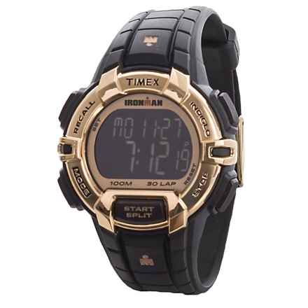 Timex IRONMAN® Rugged 30 Full-Size Digital Watch (For Men) in Black/Gold - Closeouts