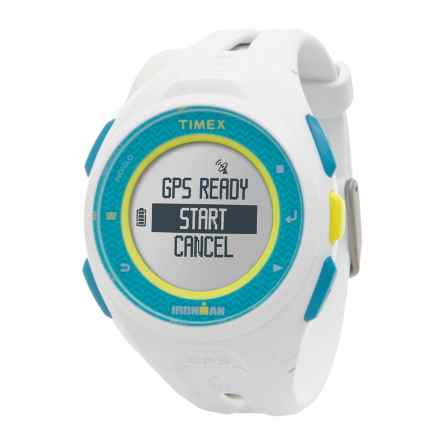 Timex IRONMAN® Run X20 GPS Watch in White/ Blue/White - Closeouts
