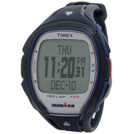 Timex IRONMAN® Sleek 150 Full-Size Sports Watch (For Men) in Silver/Navvy - Closeouts