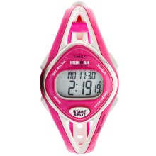 Timex Ironman® Sleek 50 Mid-Size Sports Watch (For Women) in Pink/White - Closeouts