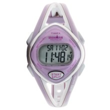 Timex Ironman® Sleek 50 Mid-Size Sports Watch (For Women) in White/Pink/Pink - Closeouts