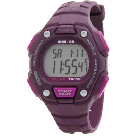 Timex IRONMAN® Traditional 30-Lap Mid-Size Watch (For Women) in Purple/ Silver/Purple - Closeouts
