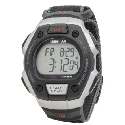 Timex Ironman Traditional 30-Lap Oversized Watch - Fast Wrap Strap (For Men) in Black/Silver/Black - Closeouts
