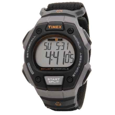 Timex IRONMAN® Traditional 50-Lap Full-Size Watch in Black/Silver/Black - Closeouts