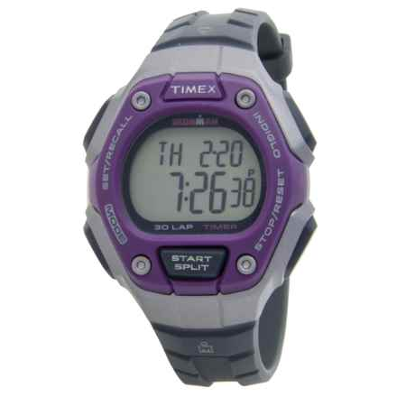 Timex IRONMAN® Traditional Core 30-Lap Mid-Size Watch (For Women) in Purple/Silver/Black - Closeouts