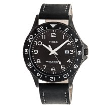 Timex Kaleidoscope Watch - Leather Band (For Men) in Black/Black - Closeouts