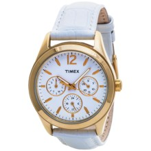 Timex Multi-Function Watch - Leather Band (For Women) in White/White - Closeouts