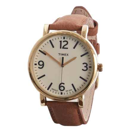 Timex Originals Analog Watch - Leather Strap (For Men) in Tan - Closeouts
