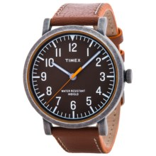 Timex Originals Classic Quartz Watch - Leather Band (For Men) in Brown/Light Brown - Closeouts