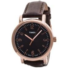 Timex Originals Classic Round Watch in Dark Brown/Brown - Closeouts