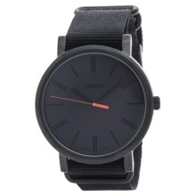 Timex Originals Classic Round Watch - Nylon Band (For Men) in Black/Black - Closeouts