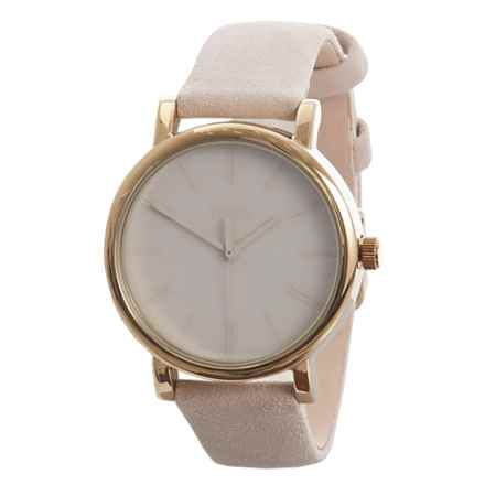 Timex Originals Tonal Analog Watch - Leather Strap (For Women) in Tonal Beige - Closeouts