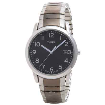 Timex Style Elevated Classic Expansions Watch - 35mm, Stainless Steel Bracelet (For Men) in Black/Stainless Steel - Closeouts