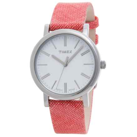 Timex Style Originals Modern Watch - 33mm (For Women) in White/Pink - Closeouts