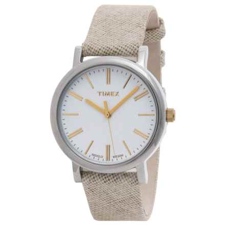 Timex Style Originals Modern Watch - 33mm (For Women) in White/Tan - Closeouts