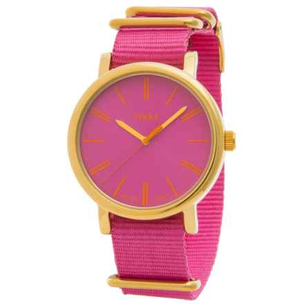 Timex Style Originals Modern Watch - 38mm, Nylon Strap (For Women) in Pink/Pink - Closeouts