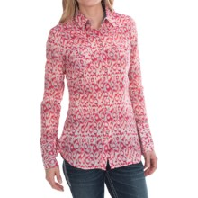 Tin Haul Animal Ikat Print Shirt - Snap Front, Long Sleeve (For Women) in Pink - Closeouts