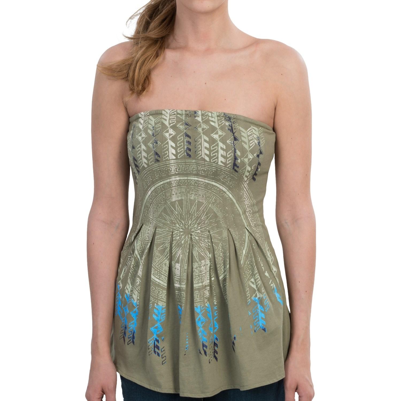 Tin haul cotton knit jersey t shirt strapless for women for Strapless t shirt bra