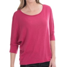 Tin Haul Crochet Back Shirt - Slub Jersey, 3/4 Sleeve (For Women) in Raspberry - Closeouts