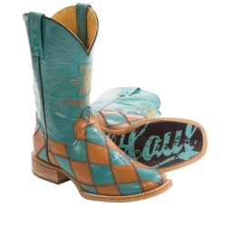 Tin Haul Diamonds For Gals Cowboy Boots (For Women) in Turquoise