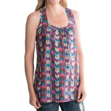 Tin Haul Digital Aztec Tank Top - Crochet Racerback (For Women) in Pink - Closeouts