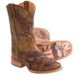 Tin Haul Eagle Crest Cowboy Boots - Square Toe (For Men)