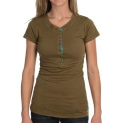 Tin Haul Jersey Henley Shirt - Short Sleeve (For Women) in Green