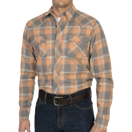 Tin Haul Ombre Plaid Shirt - Snap Front, Long Sleeve (For Men) in Harvest