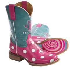 Tin Haul Polka Bright Cowboy Boots (For Women) in Pink/Turquoise