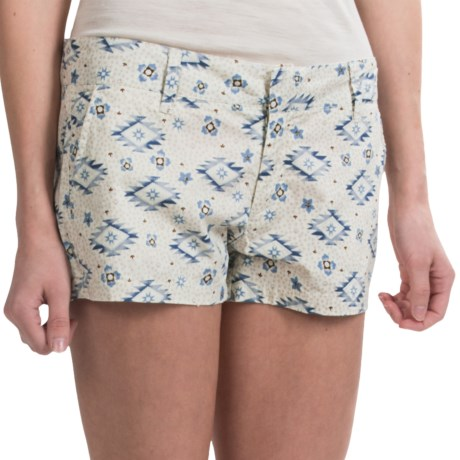 Tin Haul Scattered Aztec Print Shorts - Cotton Poplin (For Women) in White
