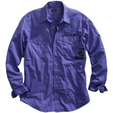 Tin Haul Screenprint Shirt - Snap Front, Long Sleeve (For Women) in Purple - Closeouts
