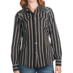 Tin Haul Skull Stripe Shirt - Long Sleeve (For Women) in Black