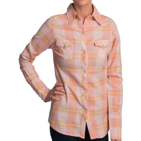Tin Haul Yarn-Dye Plaid Shirt - Long Sleeve (For Women) in Pink