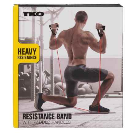 TKO Heavy-Resistance Band with Handles (For Men) in Black/Red - Closeouts