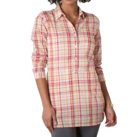 Toad&Co Airbrush Breezy Tunic Shirt - Organic Cotton, Long Sleeve (For Women) in Cerise - Closeouts