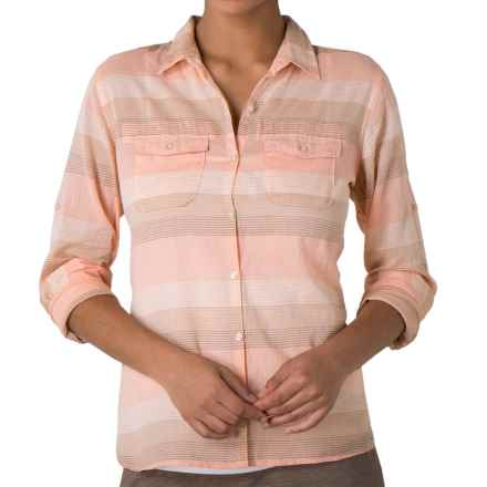 Toad&Co Airbrush Button-Front Shirt - Organic Cotton, Long Sleeve (For Women) in Melon - Closeouts