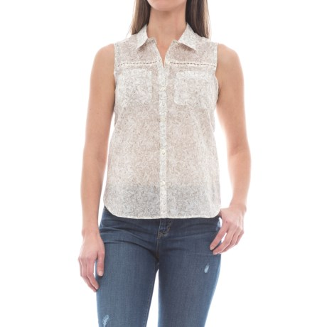 Toad&Co Airbrush Deco Shirt - Sleeveless (For Women) in Egret Galapagos Print